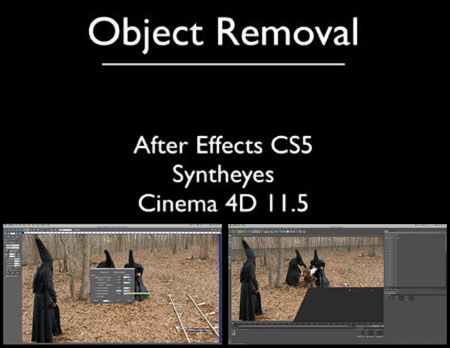 After Effects and Cinema 4D Tutorial - VFX Object Removal