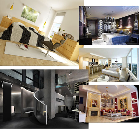 Collection of Interior Design in Classic and Modern style