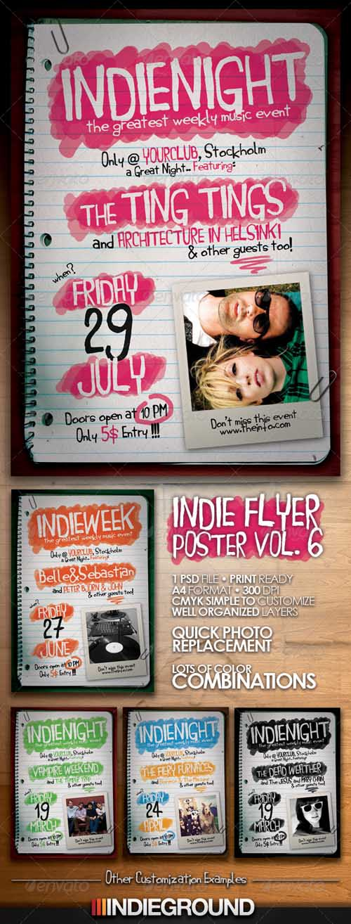 GraphicRiver - Indie Flyer/Poster Template Vol.6
