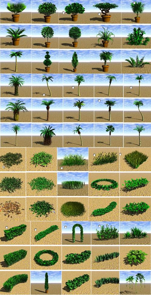 Modelos 3D para el árbol de jardín
