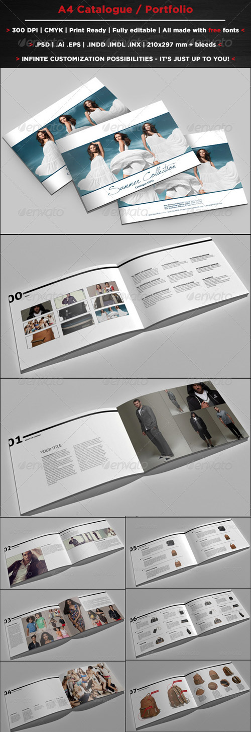 A4 Catalogue and Portfolio