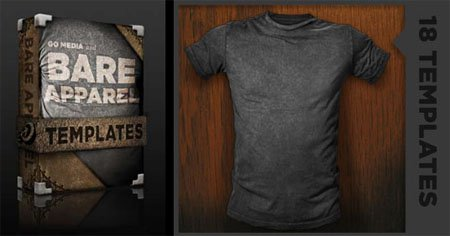 Go Media's Arsenal: Distressed Shirt Mockup Templates 18xPSD