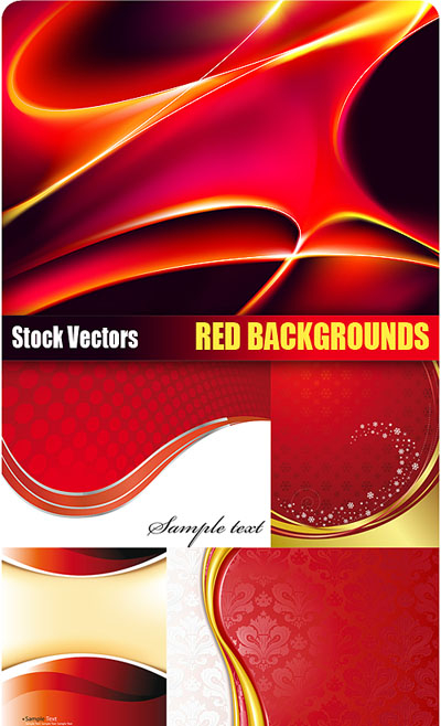 Stock Vectors - Red Backgrounds