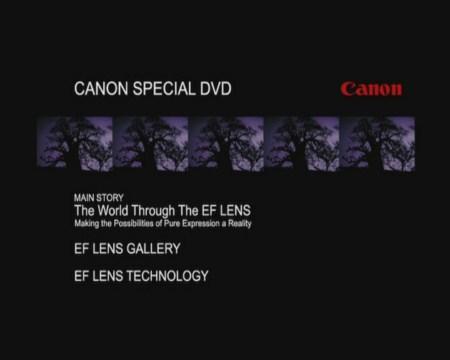 Canon EF Lens Special (DVD9)