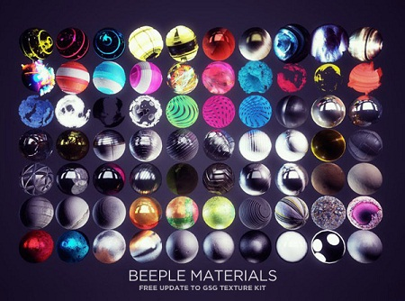 GSG Texture Kit Update Version 1.1 Beeple Materials - Essential Custom Materials for Cinema 4D