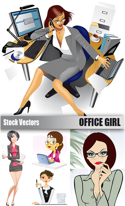 Stock Vectors - Office Girl